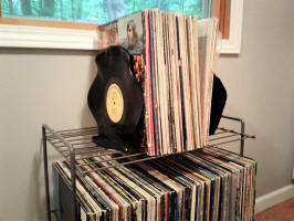 record upcycle bookends
