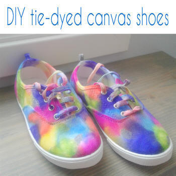 diy tie-dyed shoes